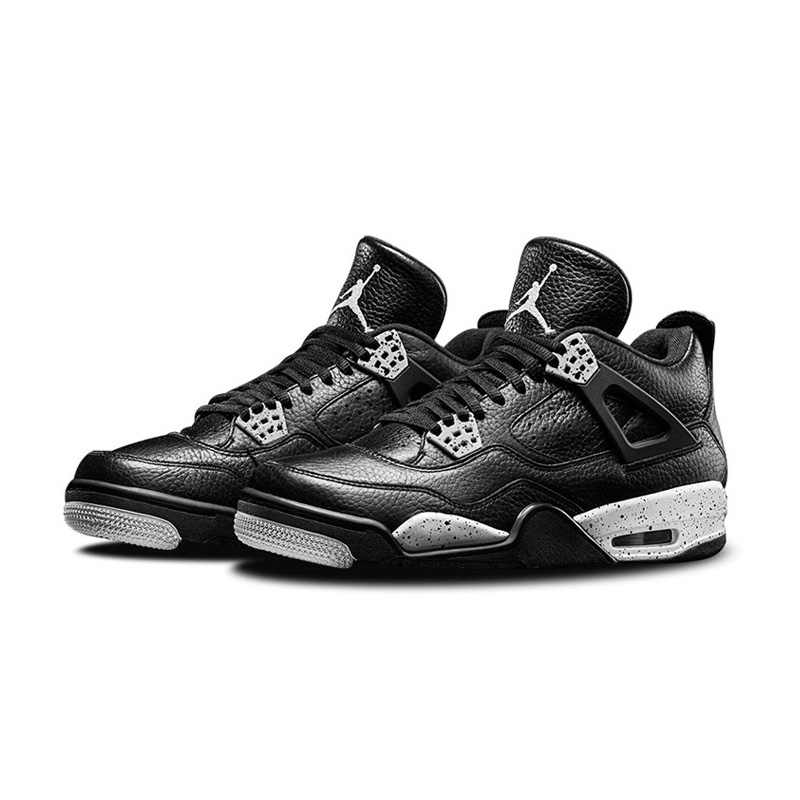 newest 821ff 9c6dd Nike Air Jordan 4 Oreo AJ4 Breathable Women's Basketball Shoes,New Arrival  Official Outdoor Sport Shoes