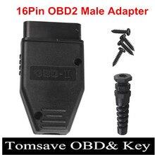 10 sztuk/partia nowy OBD2 16Pin mężczyzna kobieta złącze przejściówka Adapter OBD OBDII EOBD J1962 OBD2 16Pin okablowanie Adapter 16Pin...