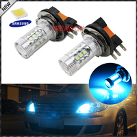2pcs 10000K Ice Blue Super Bright Samsung LED 3535 SMD H15 LED Bulbs For Audi BMW