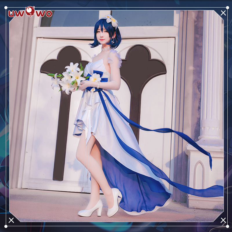 UWOWO jeu Cosplay déguisement Honkai Impact 3 Seele Vollerei peau robe blanche anniversaire robe de bal Sexy élégant Cosplay Costume