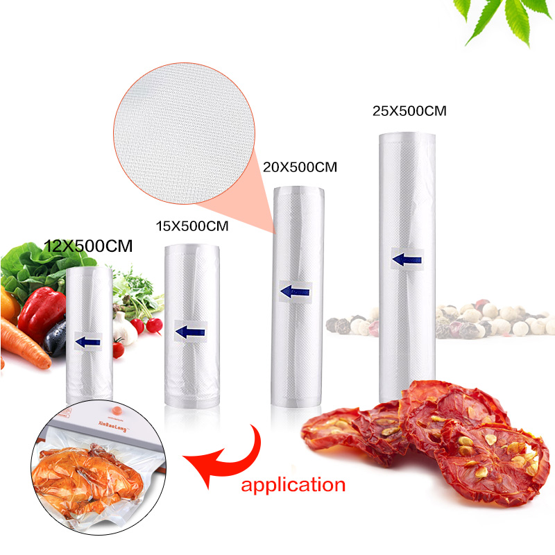 Home Kitchen Vacuum Sealer Food Saver Storage Bags Packaging Film Fresh Long Time Food Vacuum Sealer Packaging Machine dhl ems food saver v3240 vacuum sealer a1