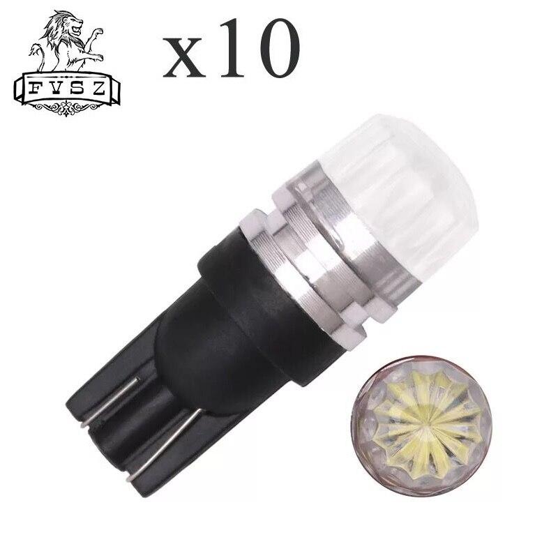 FYSZ T10 LED 0.5W 2 LED 3528 2-SMD 100Lumen 6000K LED Light-emitting diode White Light Car Dashboard Lamps (DC 12V / Pair) Люмен