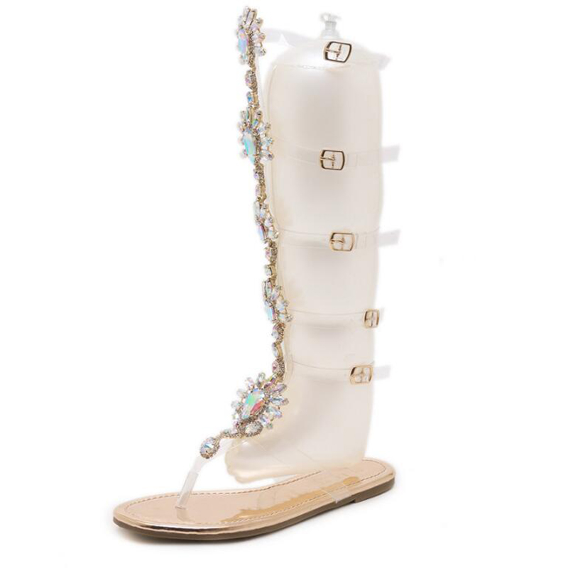 Hot Gladiator Women's Sandals Summer Luxury Rhinestone Lady Sandals 1