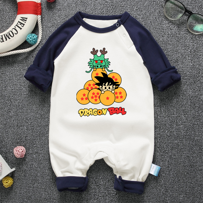 Anime DBZ Baby Romper Long Sleeve Baby Body Clothing Cotton 2017 Autumn Winter newborn Baby Boy Girl Jumpsuit Clothes   Happy Baby Mama