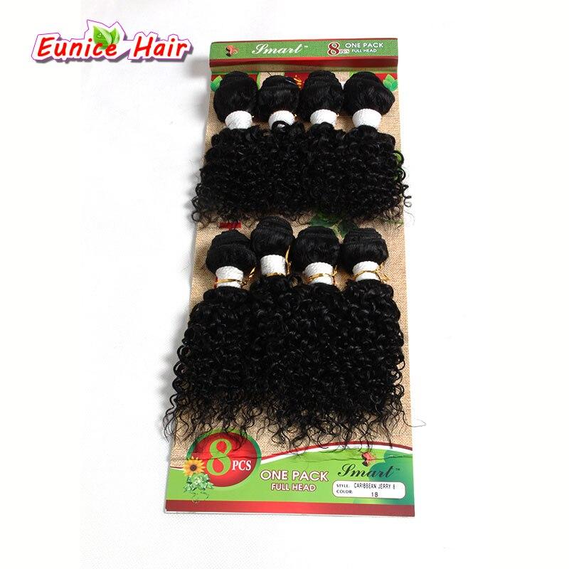 8 шт. в упаковке для полного головы волосы пучки Ombre коричневый блондинка Brazlian Natrual глубокая ткать странный вьющиеся расширение для черные же...