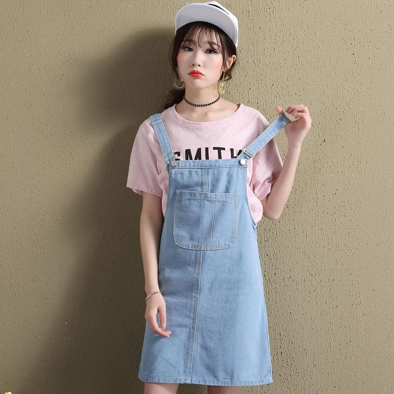 8d50962b9e Detail Feedback Questions about Korean New Fashion Women Denim Dress Summer  Casual Sundress Female Plus Size Suspender Jeans Dress Bib Overalls Mini  Dresses ...