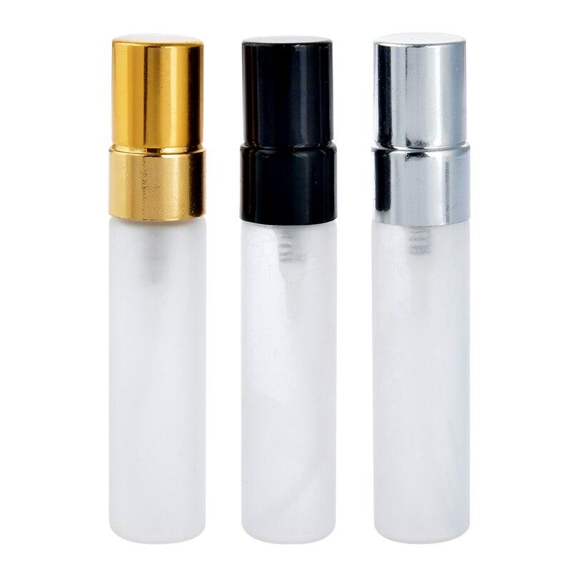 100Pieces Lot 5ML Parfum Frosting Travel Spray Bottle For Perfume Portable With Atomizador Perfume Refillable Aluminium