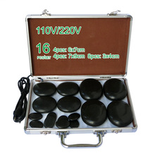 NEW wholesale & retail electrical heating 110/220V SPA hot energy stone 16pcs/set with heat box (model 4+4+8) massage stone box massageador beauty stone new wholesale electrical heating 220v spa hot energy stone 22pcs set with heat box