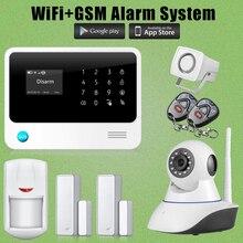 Cámara de Red IP G90B Chuangkesafe Alarma GSM GPRS WiFi Alarma de Intrusión Antirrobo Siren