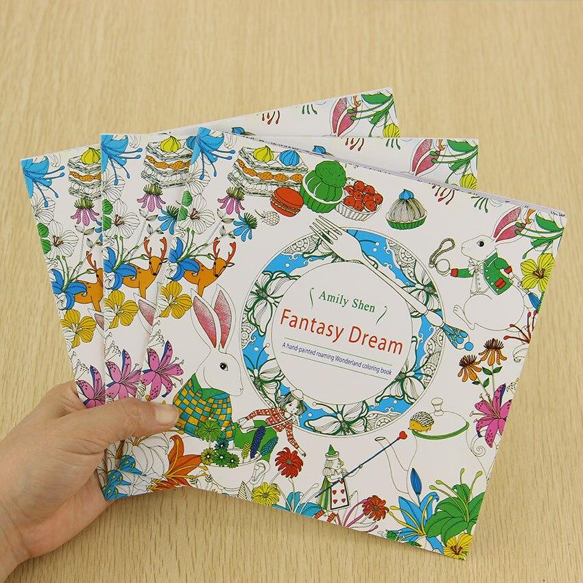 Школьная офисная книга фантазия мечты 24 страницы ручная роспись граффити раскраски книги снять стресс живопись книга