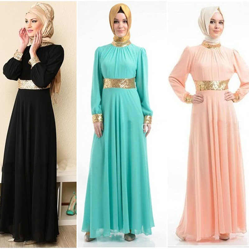 9c1c7bae31 New Dubai Women Evening Dress Abaya Clothing Fashion Turkish Elegant  Islamic Muslim Sequin Stitching Kaftan Abayas