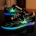 SYTAT Роскошные Конструктор Мужчины Световой Обуви Светящиеся Корзина Новый Скейт Обувь Моделирование Повседневная Обувь Chaussure Lumineuse