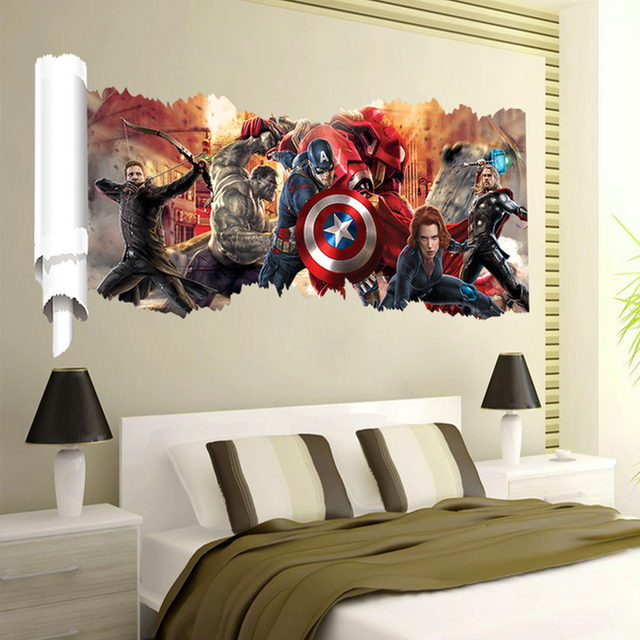 Marvel The Avengers 50cm x 90cm Wall Sticker Decal