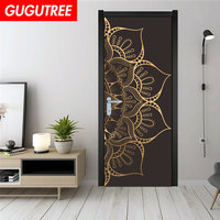 GUGUTREE PARTY flower mandala art wall sticker decoration Decals mural painting Removable Decor Wallpaper LF 715