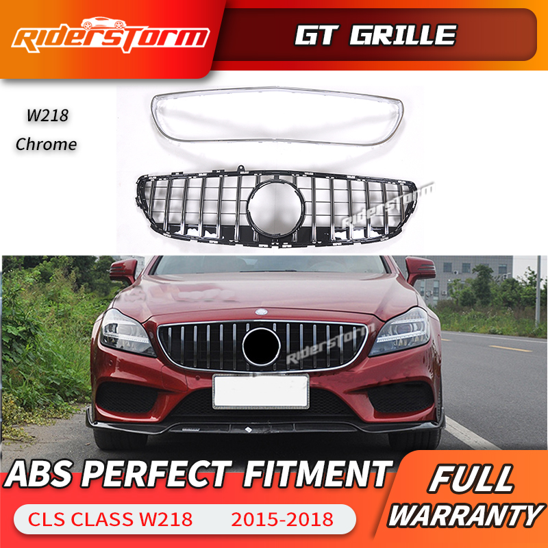 For <font><b>W218</b></font> GT <font><b>grill</b></font> ABS grille for Mercedes Benz CLS Class 2015-2018 Replacement front grille front bumper <font><b>grill</b></font> image