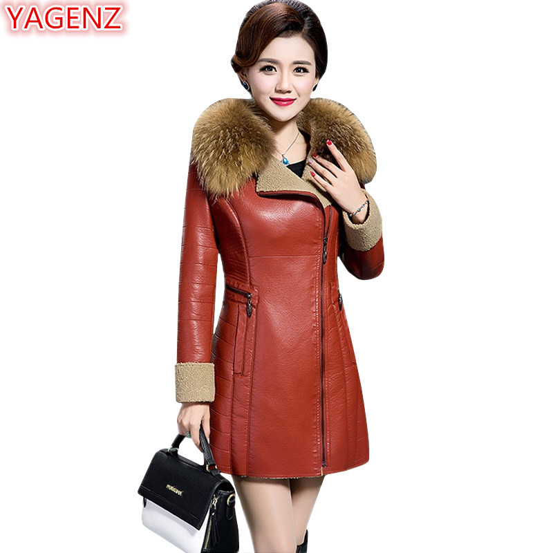 Yagenz Leather Jacket Woman High Quality Ladies Coats Plus Size Faux