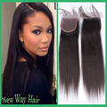 7A Grade Virgin Human Hair Malaysian Silky Straight 4x4 Swiss Lace Closure For Black Women Free/Middle 3 Part Cheap Lace Closure