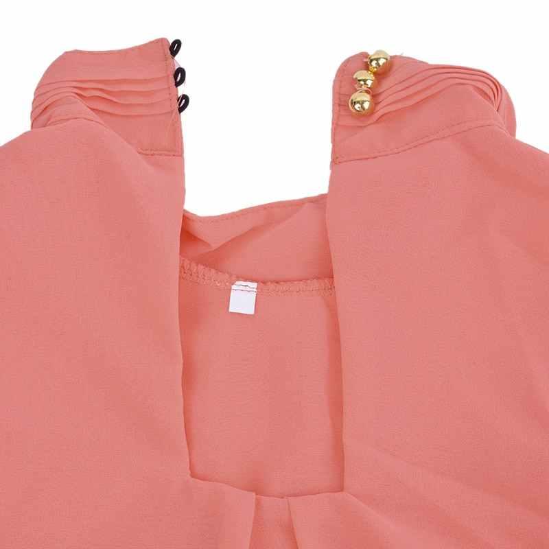 NIBESSER 2019 נשים שיפון חולצה קיץ למעלה שרוולים אופנה מוצק אפוד חולצה מזדמן Femininas חולצות T בתוספת גודל 3XL