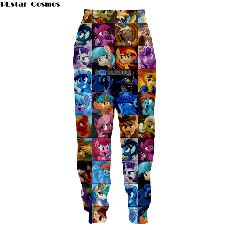 PLstar Cosm Newest Popular Cartoon My Little Pony Series Pants 3D Print Most Fashion Harajuku Style Novelty Casual Joggers Pants