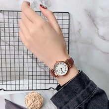 2019 New Simple Small Dial Women Watch Fashion Luxury Brand Quartz Female Clock Retro Watches Vintage Leather Ladies Wristwatch ulzzang fashion simple small dial dress women watch ladies girls young watch leather women wristwatch