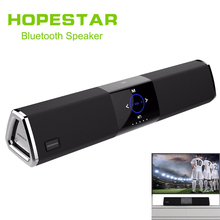 цены HOPESTAR A3 Home Theater Wireless Bluetooth 2.1 Speaker Column Dual Subwoofer Loudspeaker 3D stereo surround charge TV Sound bar