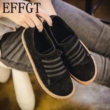 9312e731e8 EFFGT 2018 primavera e no outono Nova Mulher Sapatos Baixos Casuais Lace-up Sapatos  Restaurar antigas formas Confortáveis Dedo D..