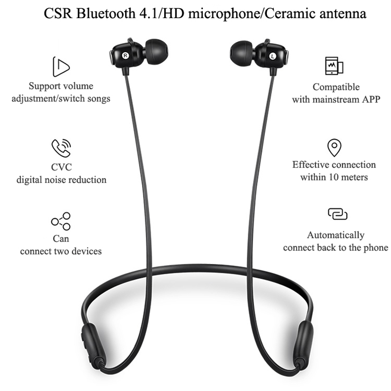 Inpher S6 stereo Wireless Bluetooth Earphone headphone For Xiaomi iPhone auriculares fone de ouvido with mic for phone and music in Bluetooth Earphones Headphones from Consumer Electronics