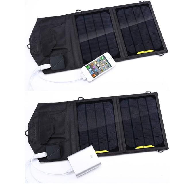 8 W Cargador Solar Plegable Del Cargador Del Panel Solar Plegable Para El Teléfono Móvil para teléfonos Celulares GPS Cámara Digital