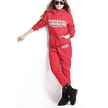 3 Pcs Outfit Set Women Casual Hoodie Trousers Suit Tracksuit Set Autumn Winter Letter Print Female Hooded Sweatshirt Set