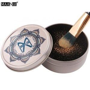 MAANGE расческа для макияжа, чистящий спонж для удаления косметики, алюминиевый коврик для макияжа, чистящая коробка, набор для очистки щеток д...