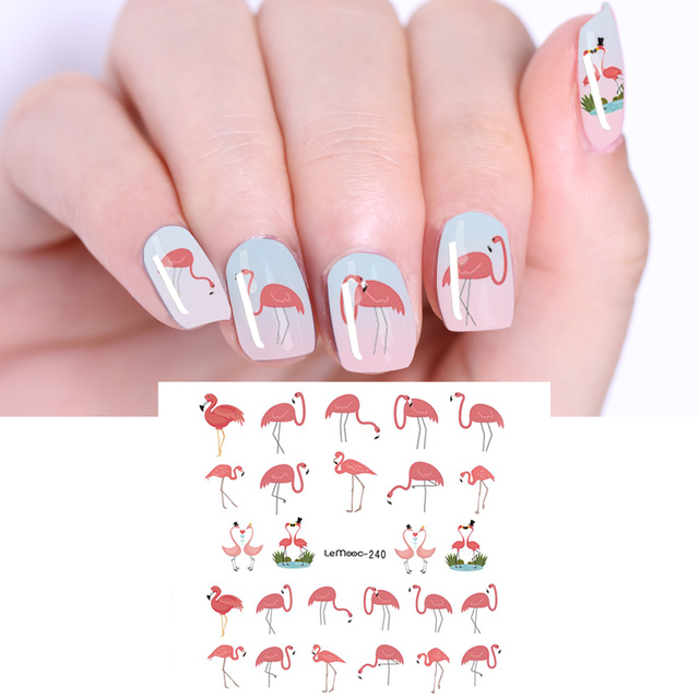 Cute Animal Designs Nail Transfer Sticker Water Decals