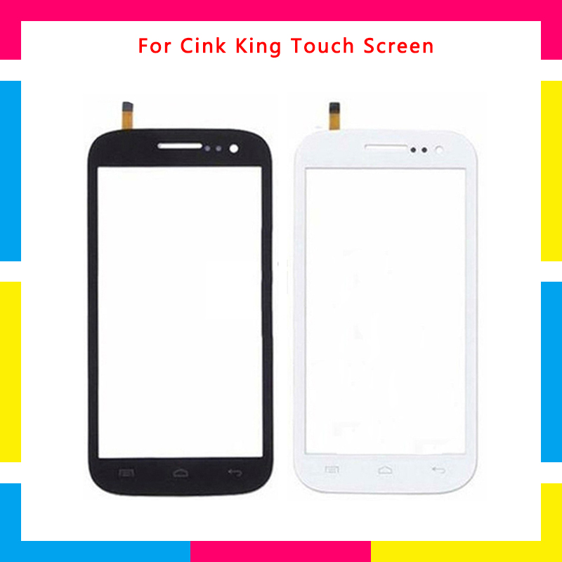 5Pcslot high quality Touch Screen Digitizer Sensor Outer Glass Lens Panel For Wiko Cink King + Tracking code