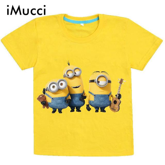 Enfants Jaune T Imucci 110 De 150 Shirt Minion Cm Bande Dessinée wC8gq4