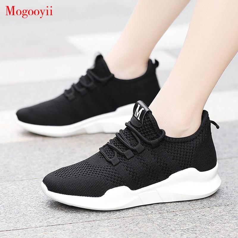 100% Wahr Turnschuhe Frauen Mode Komfortable Wohnungen Weiß Jogging Training Schuhe Zapatillas Mujer Tenis Feminino
