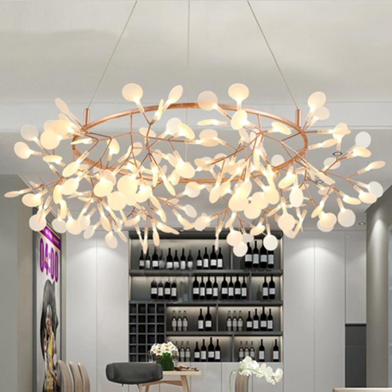 Arte Decorativa Olive Branch Pendente Style Europe LED Luci Appese Foglie Foyer Salone Hall AC110/220 V Cafe Dinastia libera La Nave