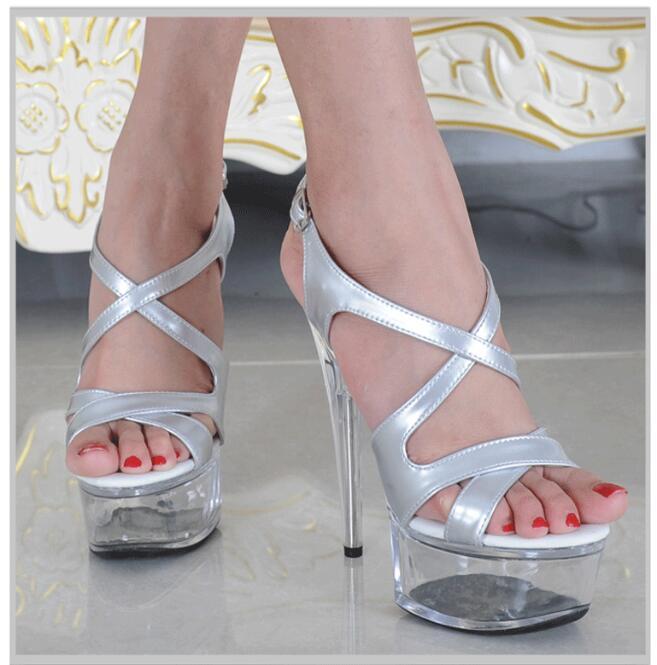 Boda 15 Zapatos De Transparente Sandalias Belleza plata Charol Mujeres Plataforma Bombas Beige Cm Mujer Plata Tacones Sexy RYRqg6pW