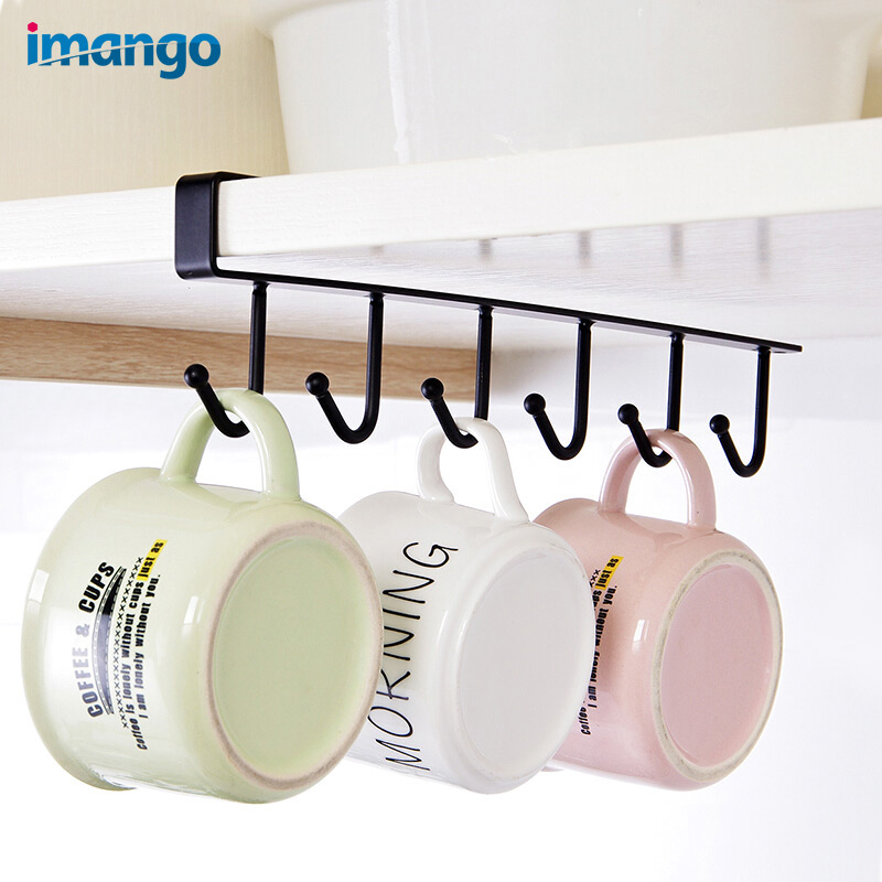 1 Pcs Fashion Door Multi-function Kitchen Metal Hook Wall Hanger Coat Hat Racks Holders Kitchen Bathroom Accessories Tableware