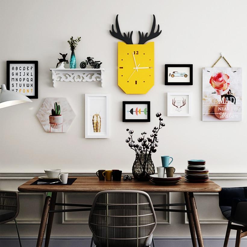 SUFEILE Европейская декоративная рамка для гостиной, столовой, настенная декоративная фоторамка, деревянная комбинация, фоторамка, фоторамка D40