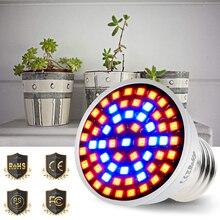 E27 LED Plant Light Bulb E14 Light LED For Plant 220V GU10 Phyto Lamp MR16 Grow Light Red and Blue B22 48 60 80leds 110V 2835SMD
