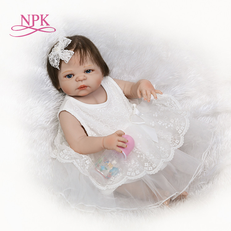 NPK 55CM Silicone reborn baby doll toys for girl, lifelike reborn babies play house toy birthday gift girl brinquedos bonecas our generation doll silicone reborn baby dolls for little girl lifelike reborn babies play house toy birthday gift brinquedods