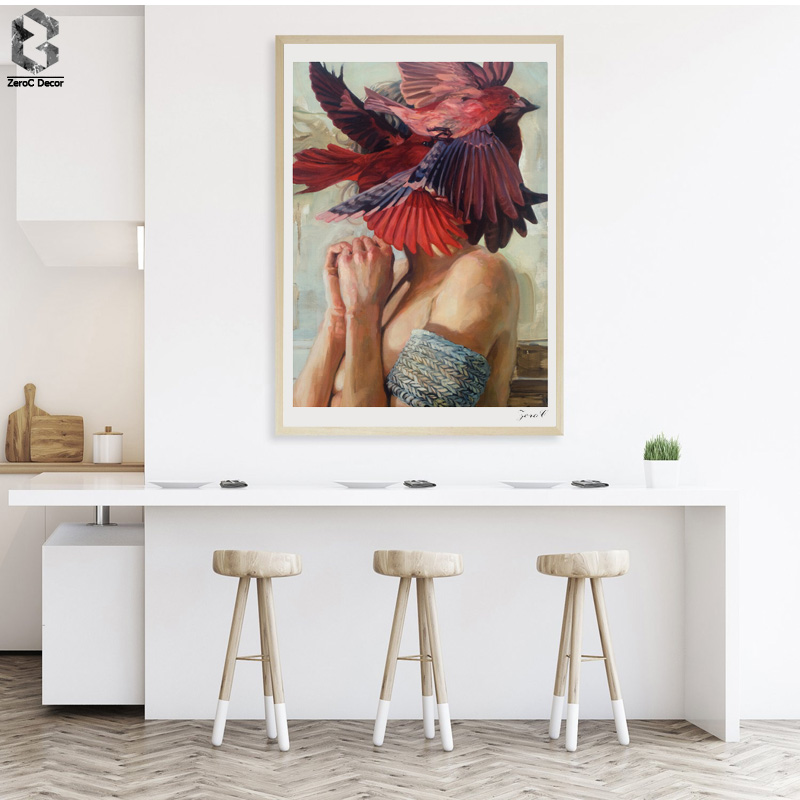 Renaissance Oil Painting Art Prints and Posters on Canvas Wall Art Pictures Girl Portrait For Living Room Europe Decoration