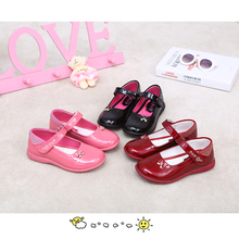 PDEP Girls Elegant Dress Shoes Rhinestones Young Daughter Girl Flat Leather Footwear School Children Girl Leather Shoes