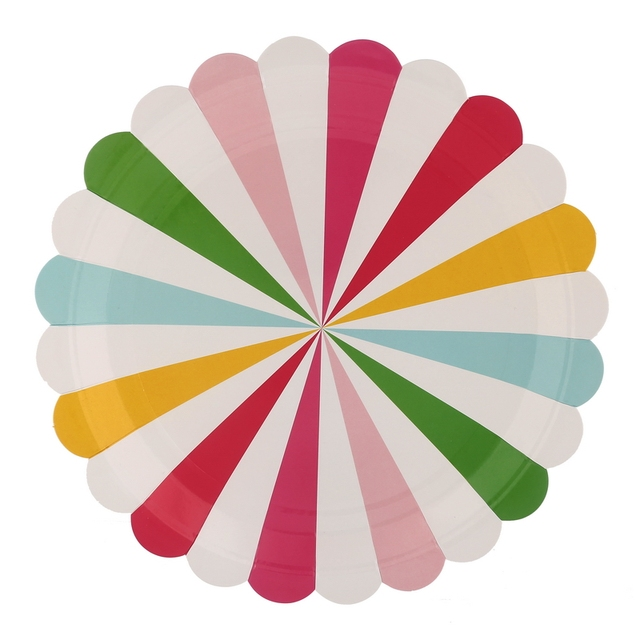 Wholesale 7  9  Diposable Plates Birthday Party Wedding Colorful Striped Paper Plates  sc 1 st  AliExpress.com & Wholesale 7