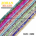 Top quality Square shape Upscale Austrian crystal beads Transparent beads quadrate ball 3mm 100pcs supply bracelet Jewelry DIY