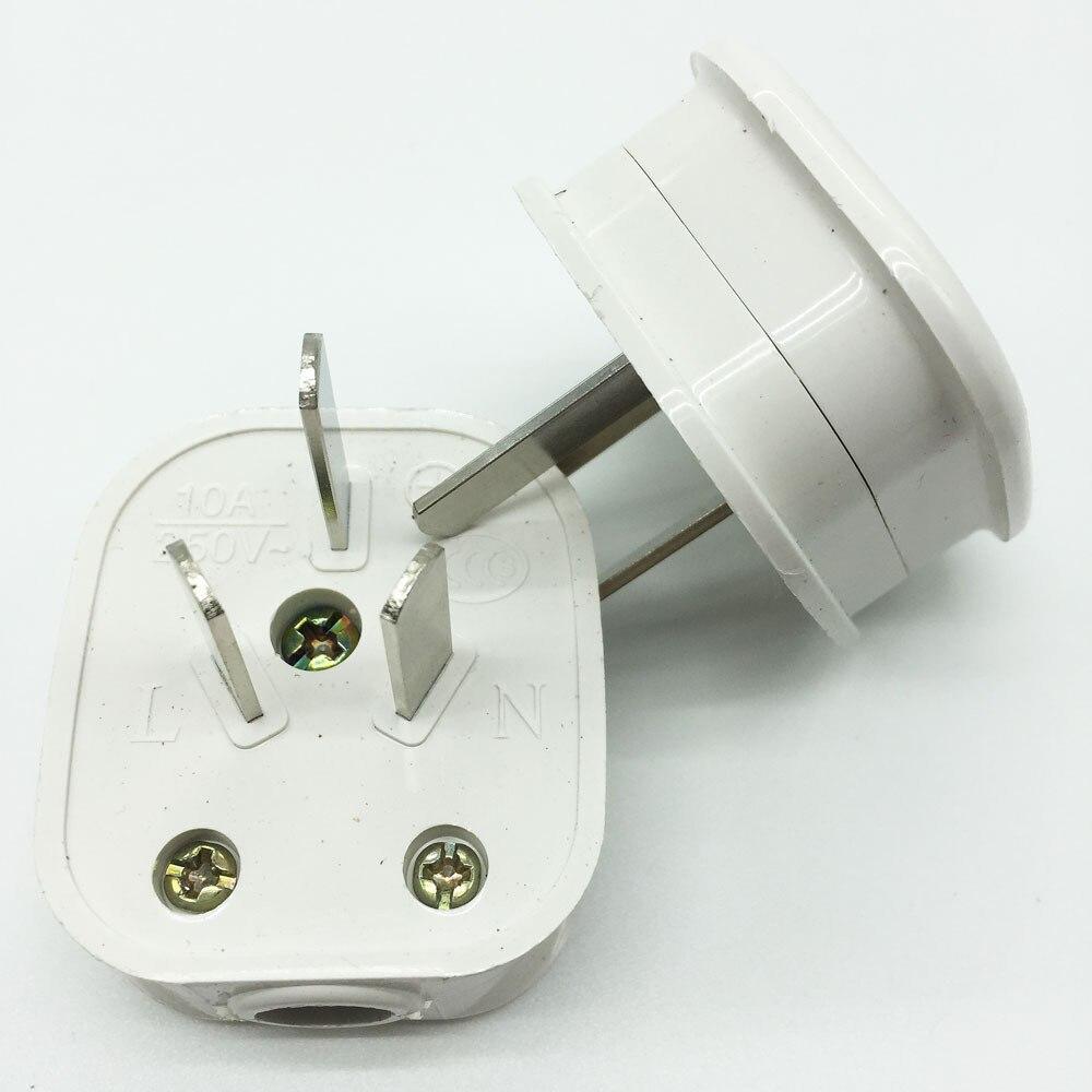 Blanc australie standard 16A/10A 250V prise d'alimentation trois pôles assemblage de prise amovible prise de connexion AU 2/5/10/20 pièces
