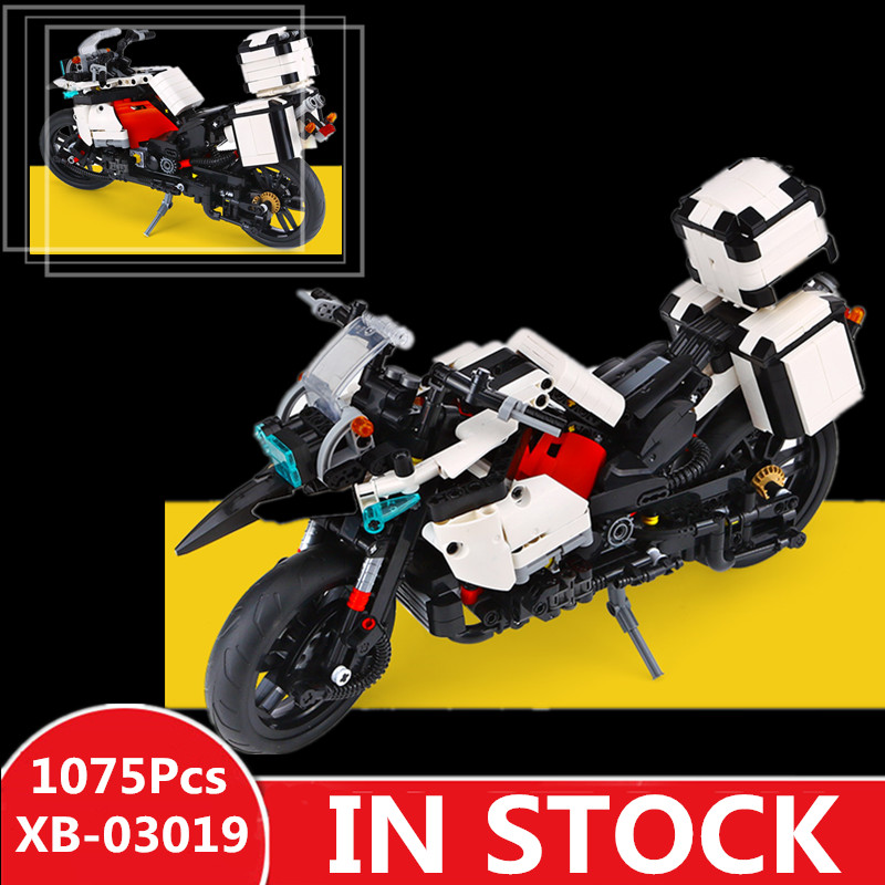 H&HXY 03019 Genuine 1075PCS The Patrol Motorcycle Set XINGBAO Building Blocks Bricks Educational Funny Toys Gifts For Kid funny kid for president
