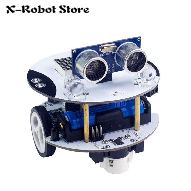 Qbot Programmable Smart Robot Car Kit with Ultrasonic Sensor Line Tracking Sensor LED Display Bluetooth Module Infrared Remote hc sr04 ultrasonic module distance measuring transducer sensor with mount bracket