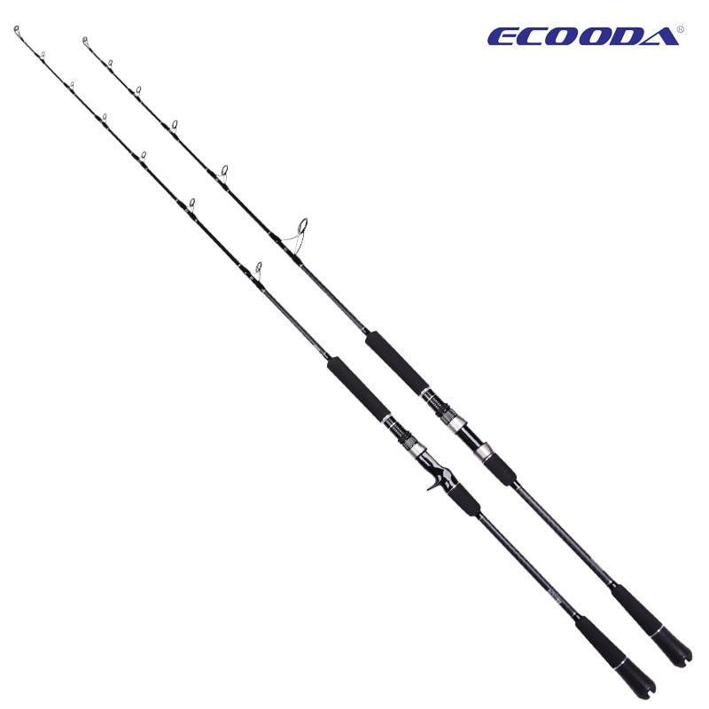 ECOODA EPJ II Full Fuji Parts Single Section 1.6m/1.68m/1.52m  Spinning/Casting Rod  Corss Carbon Boat Rod Jigging Rod