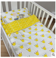 Nueva ropa de cama cuna 3 unids bebé juego de Cama incluida funda de almohada sábana funda nórdica sin relleno para bebé ropa de cama cuna conjunto