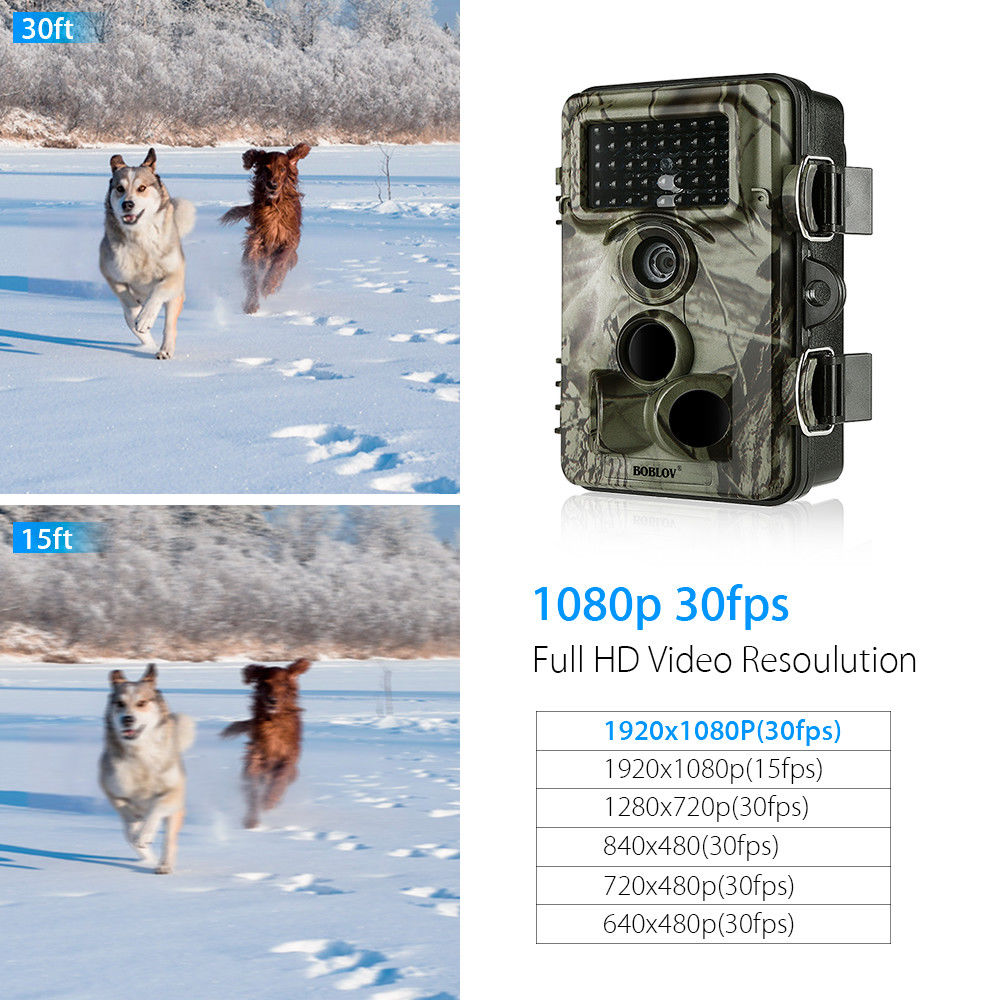 Image 4 - BOBLOV CT009 Hunting Camera 16MP Trail Camera Farm Security Wild Cameras IR Night Vision Photo Traps IP66 Cam Device For Hunting-in Hunting Cameras from Sports & Entertainment